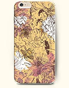 iPhone 6 Plus Case 5.5 Inches Flowers Opening Slowly - Hard Back Plastic Case OOFIT Authentic
