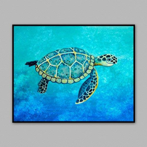 Eagle Ray Stingray (Painted Ocean Animals Archival Wall Art Print/poster. Original Artwork. Sea Turtle, Seahorse, Whale, Eagle Ray (Sea Turtle,)