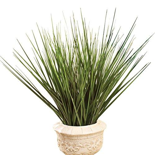 Decorative Grass Bushes - Set Of 3, Green