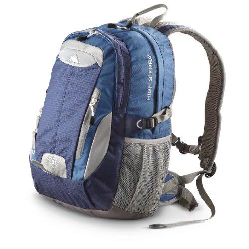 High Sierra Steadfast Backpack, Blue Velvet/Pacific/Ash/Charco, Bags Central