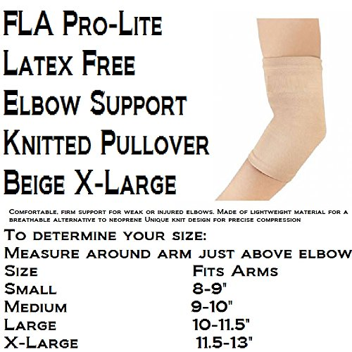 Fla 19-4001LBEG Pro Lite Elbow Support Knitted Pullover, Beige, Extra Large by FLA (Pro Lite Knitted Pullover)