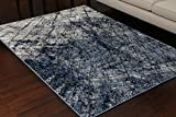 Miami Textured 3-D Carved Double Point High Density Thick Collection Oriental Carpet Area Rug Rugs Silver Grey Blue 5071 Anthracite 8×11 8×10 7'10×10'2 Review