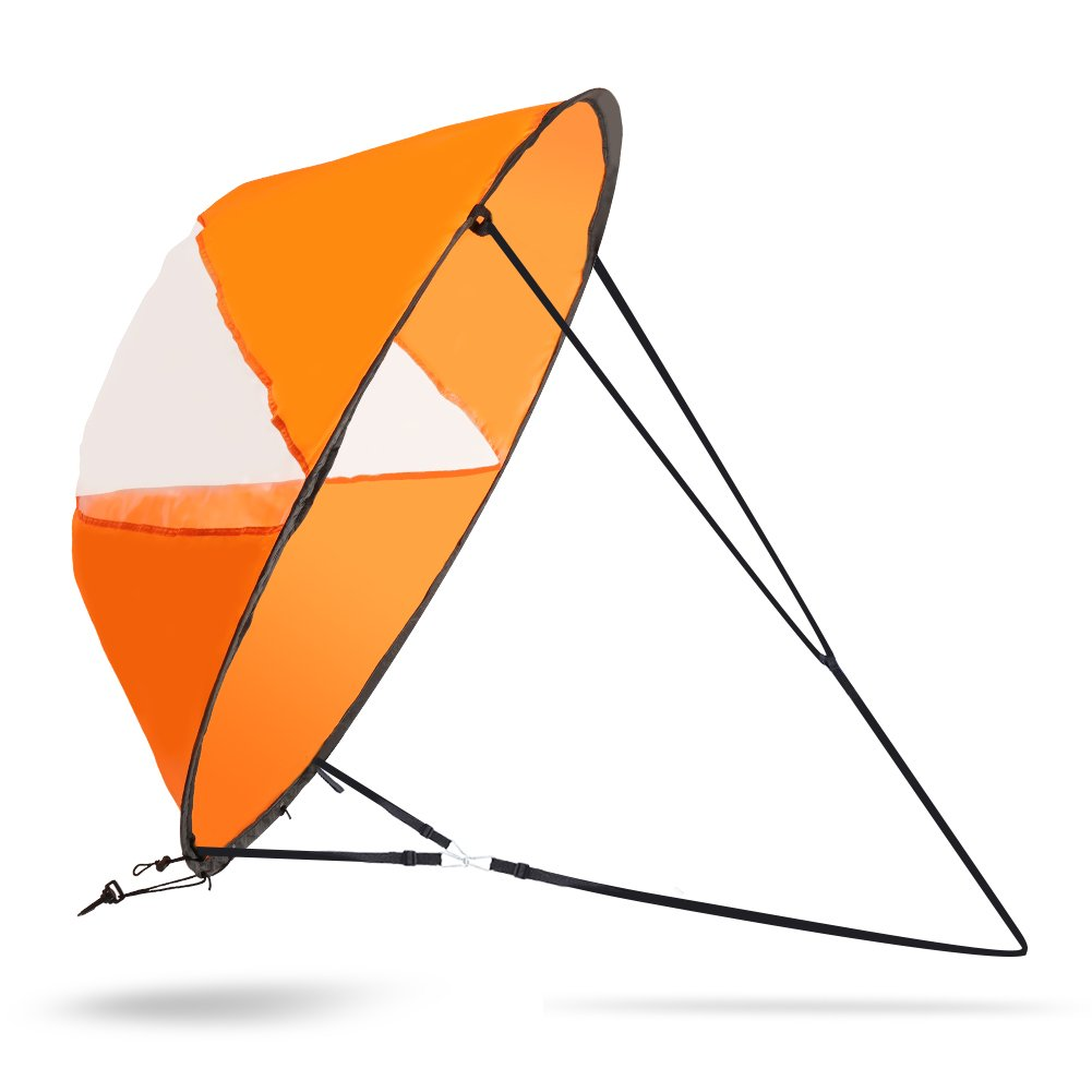 VGEBY 42inch Wind Sail, Fold-able Downwind Sail for Kayaks, Canoes, Inflatable boats, Paddle Board