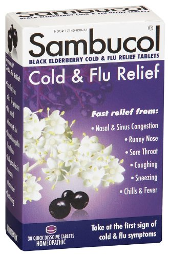 HBI - Sambucol Cold & Flu Relief, 30 lozenges