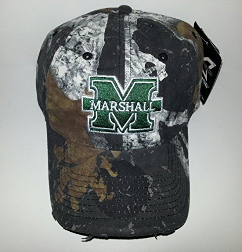 Marshall University Adjustable buckle Hat 3D Embroidered Distressed Cap