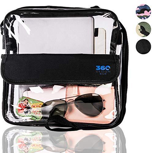 360 DESIGN BOX Clear Cross-Body Messenger Shoulder Bag 10