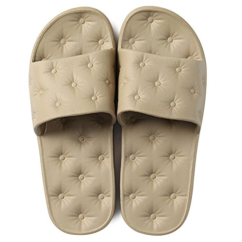 Summer Baths Sandals Plastic Khaki and Men Home Bottom Indoor Bathing Couple Shoes Soft Slippers Women Home nYHxw40qU