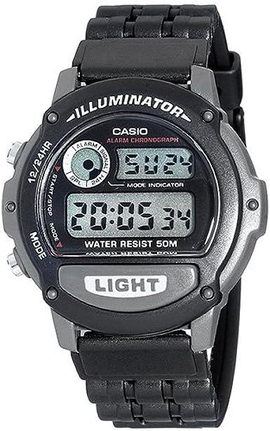 CASIO W-87H-1VH - Reloj unisex de cuarzo, correa de resina (con multifunción)