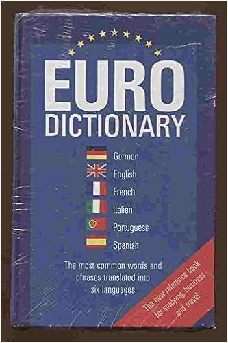 European Dictionary French English German Spanish Italian