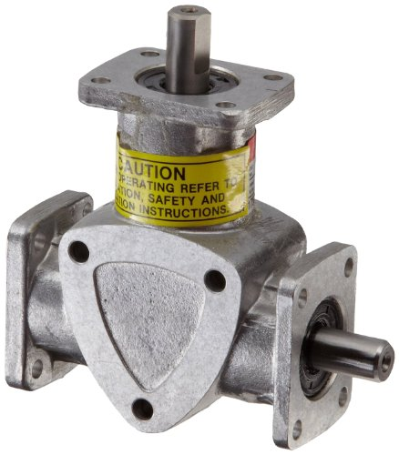 Boston Gear RA631 Right Angle Spiral Bevel Gear Drive, 1:1 Ratio, 3-Way Shaft Drive Gear 3 Way