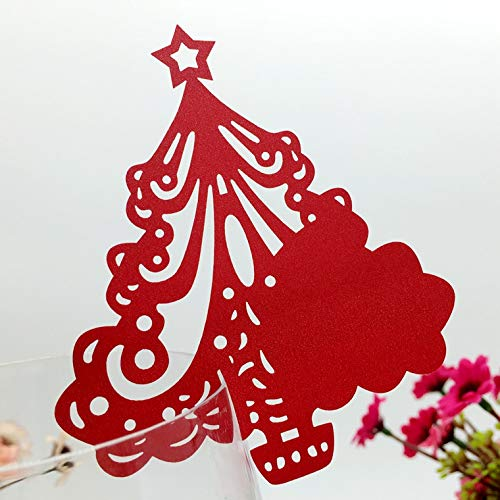 200pcs Tree Shape Laser Cut Name Card Table Place Card Wedding Party Table Decoration Thanksgiving Christmas Festival Seat Assignment Note Card Banquet Food Sign Escort Name Card Party Favor (Type-2)