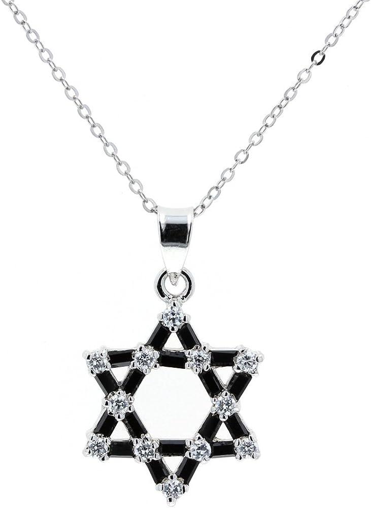DiamondJewelryNY Sterling Silver Surfer Cross Pendant