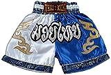 asmanjune Nakarad Kid Muay Thai Boxing Shorts White & Blue Size M for 9y -10y
