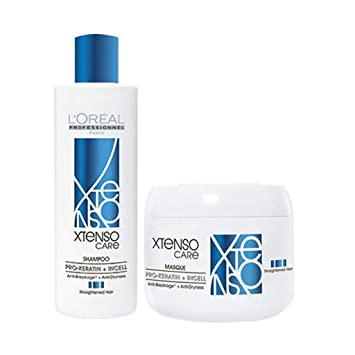 Amazon Com L Oreal Professional X Tenso Care Straight Shampoo 250ml Masque 196g Combo Pack By L Oreal Paris Beauty