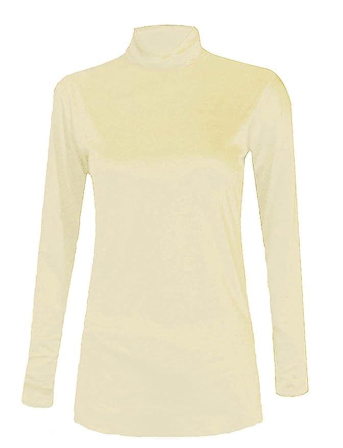 AHR Manchester UK - Camiseta de Manga Larga - Básico - Cuello de Polo - para  Mujer  Amazon.es  Ropa y accesorios d0b87b2c76d1