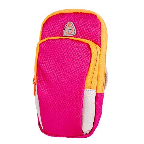 Lixada Sport Mobil Arm Tasche, Einzelteilgröße: 18 * 10 * 5cm, Material: Wasserdichte Tauchgewebe rose