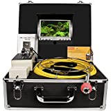 Pipe Sewer Inspection Camera Anysun Waterproof IP68 20m Drain Pipe Sewer Industrial Endoscope Video Inspection System 7inch LCD Monitor 1000TVL Sony CCD DVR Recorder Video Snake Camera