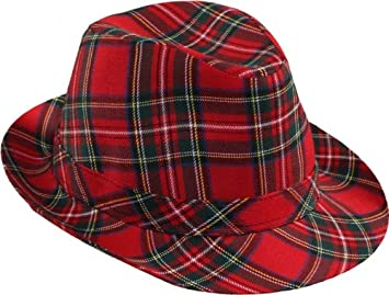Faschingshut Schotten Hut Rot Amazon De Spielzeug