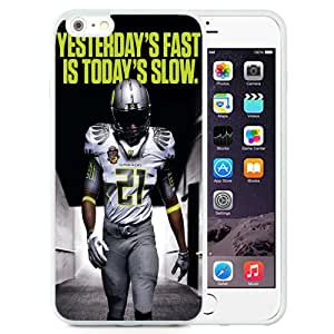 NCAA Pacific-12 Conference Pac-12 Football Oregon Ducks 16 Protective Cell Phone TPU Cover Case for Iphone 6 Plus Generation 5.5 Inch White