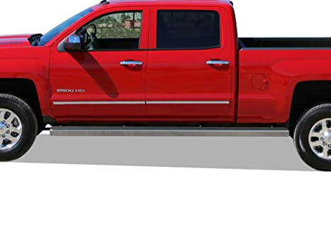 Gmc Sierra Running Boards >> Aps Wheel To Wheel Running Boards 6in Custom Fit 2007 2018 Chevy Silverado Gmc Sierra Crew Cab 6 5ft Bed 2019 2500 Hd 3500 Hd Exclude 07
