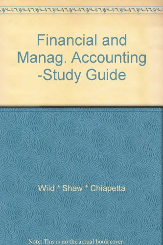 Financial and Manag. Accounting -Study Guide
