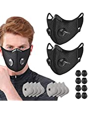 Activated Carbon Filters Anti Dust Replacements Parts for Most Sport Cycling Masks Filters with Exhaust Breathing Valves