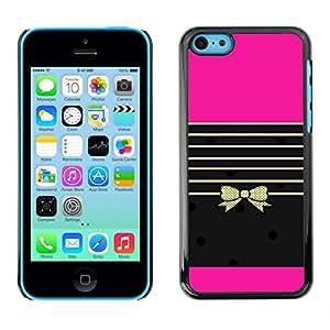 For Apple iPhone 5C Case , Stiletto Lips Bling Fashion Purple - Diseño Patrón Teléfono Caso Cubierta Case Bumper Duro Protección Case Cover Funda