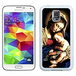 Unique And Lovely Designed Case For Samsung Galaxy S5 I9600 G900a G900v G900p G900t G900w With Virgin Mary Christian And Child Baby Jesus (2) White Phone Case