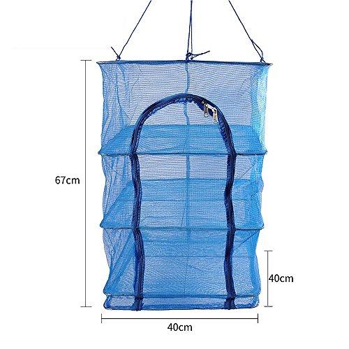 4 Tray Fish Mesh Hanging Drying Net with zipper Food Dehydra