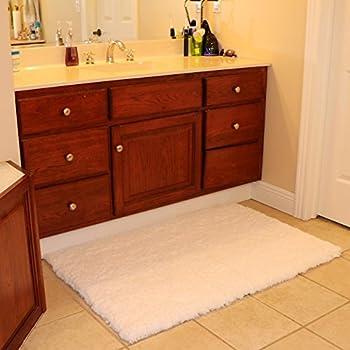 Amazon.com: Pinzon 100% Cotton Looped Bath Rug with Non-Slip Backing ...