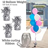 "Helium Tank + 12 Balloon Weights, 5.5"", 5.7 oz"
