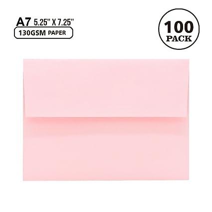 amazon com a7 pink invitation 5x7 envelopes self seal square