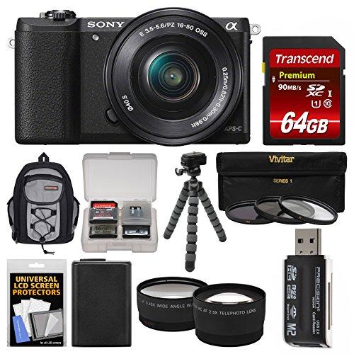 Sony Alpha A5100 Wi-Fi Digital Camera & 16-50mm Lens  with 6