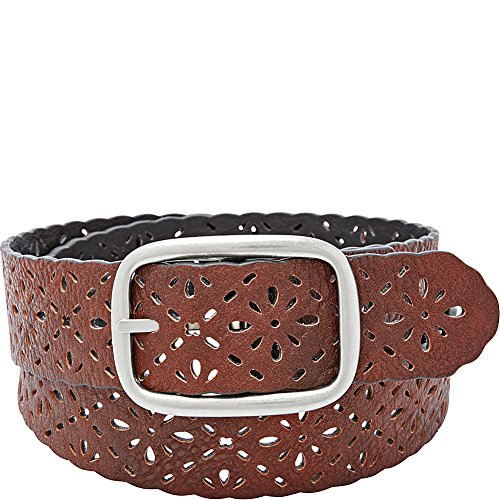 Relic Reversible Floral Perforated Belt (XL - Black/Brown) (Perforated Floral Belt)
