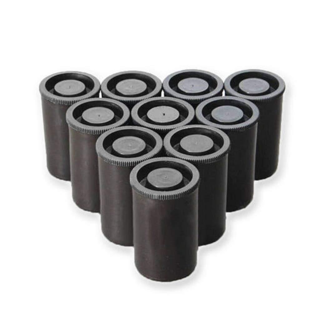 Lenhar Lot de Lot DE 20Boîtes de Film de Couleur Noir pour Film 35mm