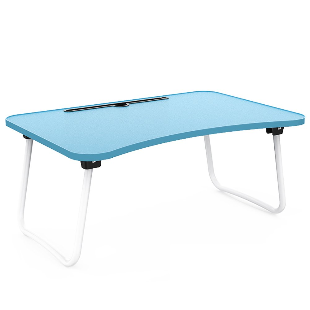 Mesa plegable Laptop Table Desk Bed Play Use Small Table Plegable Homehold Play Bed Game Hacer La Tarea Conveniente (Color : Azul) b284ee