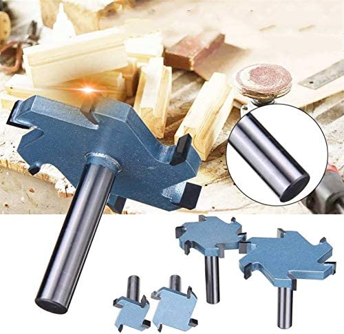 SHENYUAN 1/2 Shank 4T 6T Groove Slotting Milling Cutter CNC Tool for Hard Wood Cutters T type Slot Woodworking Router Bit (Size : 80x6H 6T)