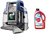 Hoover Spotless Deluxe Portable Carpet & Upholstery Spot Cleaner+Hoover AH30330NF Cleanplus 2X Concentrated Carpet Cleaner and Deodorizer, 64oz