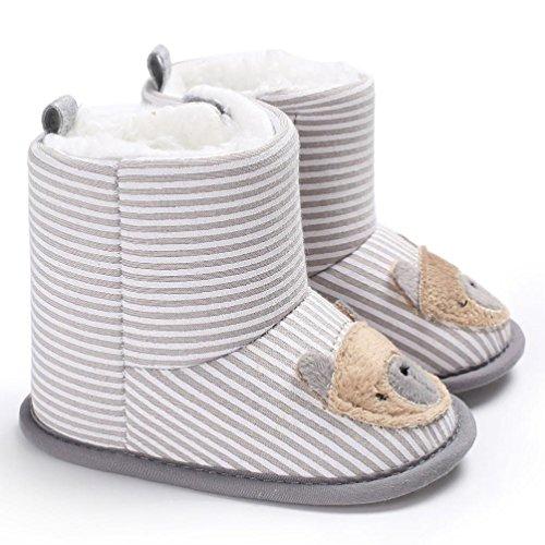 Clode® Baby Boy Soft Booties Schneeschuhe Infant Kleinkind Neugeborenen Erwärmung Schuhe Beige