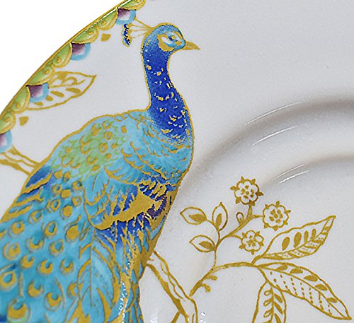 222 Fifth Peacock Garden 16-piece Dinnerware Set, Service for 4 by 222 Fifth (Image #3)