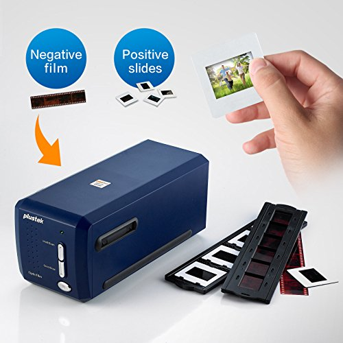 Plustek OpticFilm 8100 35mm Negative Film Slide Scanner Digitizer 7200 DPI 69 MP Optical Resolution Photograph Converter - Support PC/MAC - Bundle SilverFast SE Plus 8 - 20