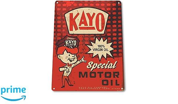 TIN SIGN B506 Kayo Motor Oil Metal Sign Gas Oil Auto Garage Decor