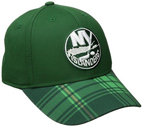 NHL New York Islanders Men's SP17 St. Patrick's Day Structured Flex Hat, Green, Large/X-Large - New York Islanders Visor