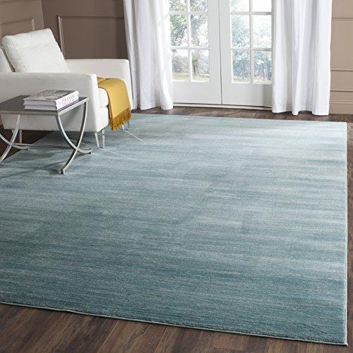 Light Green Contemporary Rug - Safavieh Vision Collection VSN606B Aqua Blue Tonal Area Rug (8' x 10')