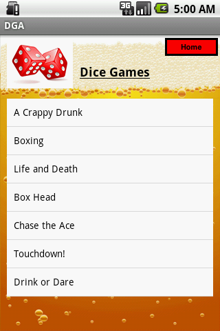 The Drinking Game App
