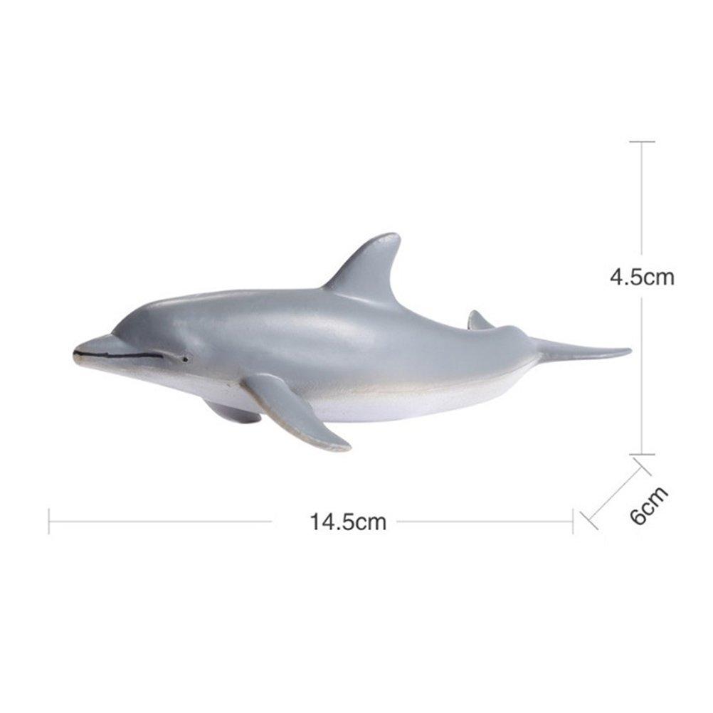 Toyvian 4pcs oc/éan Animaux de la mer en Plastique Mini Animal Jouet Requin Dauphin Poisson Figure r/éaliste Jouet Jouets /éducatifs Bain Collection de Jouets pour Enfants Motif al/éatoire