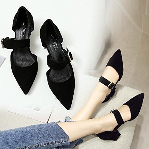 Größe mit Dick Jingsen Farbe Black Low Hilfe Wies Cut 35 mit Schuhe Hohlen Damenschuhe Frühling Damenschuhe Schaffell Niedrig q4wxaXrSn4