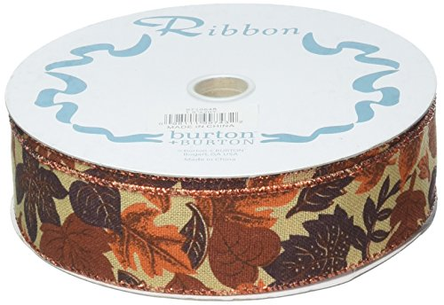 Burton Bubble - #9 Rustic Autumn Leaf Wired Ribbon