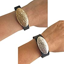 Charms to Accessorize Fitbit or Other Activity Trackers - The ANGELINA Charms in Gold and Silver to Dress Up Your Favorite Fitness Tracker - Bundle Pack (Gold/Silver, Garmin Vivosmart)