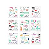 GEORLD 9 Pieces Journaling Design Clear Stamp for Gift Card Making Decoration Scrapbooking